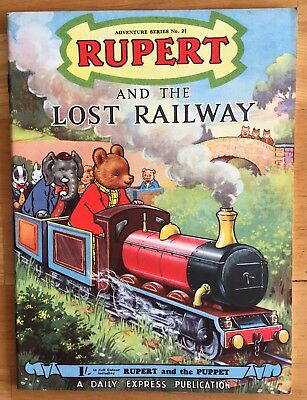 RUPERT Adventure Series No 21 Rupert & The Lost Railway JUNE 1954 V FINE Ex-Shop