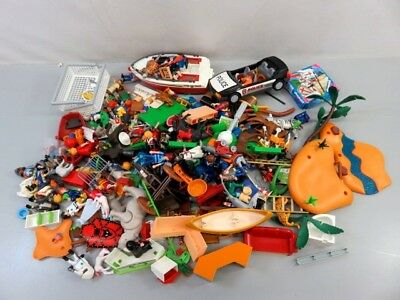 Playmobil Building Pieces and Parts with Figures and Animals - LOT