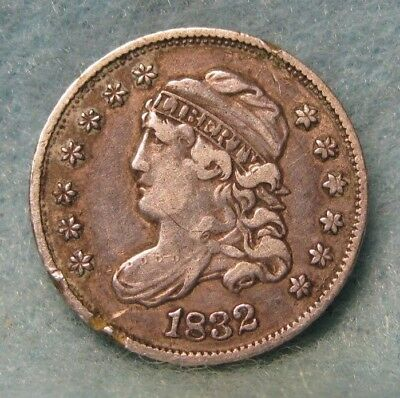 1832 Capped Bust Silver Half Dime VF Detail * Circulated US Coin *