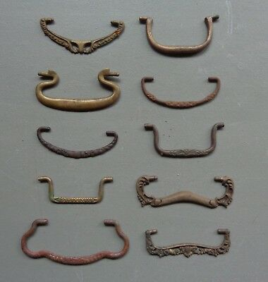 Vtg Salvage Lot of 10 Metal & Brass Bail Swing Pulls Handles (Bails Only) #27