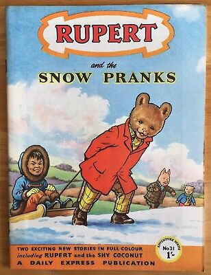 RUPERT Adventure Series No 31 Rupert and the Snow Pranks JANUARY 1957 VERY FINE