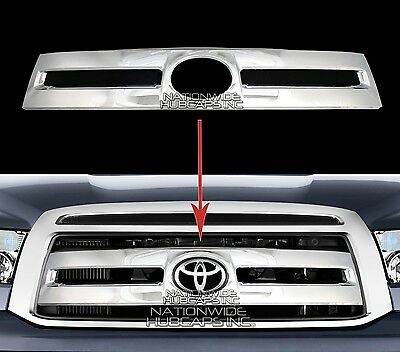 fits 10-13 Toyota Tundra CHROME Snap On Grille Overlay Grill Covers Front Insert