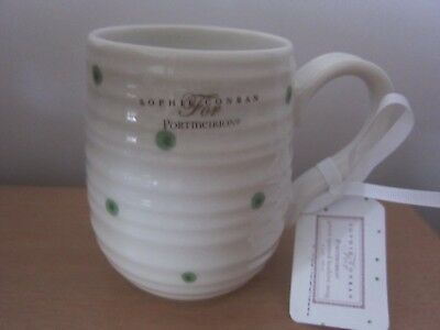 Portmeirion Sophie Conran Green Spot Beehive Mug - New With Label