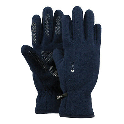 Barts Warm Children Fleece Gloves Winter Boys Girls Navy