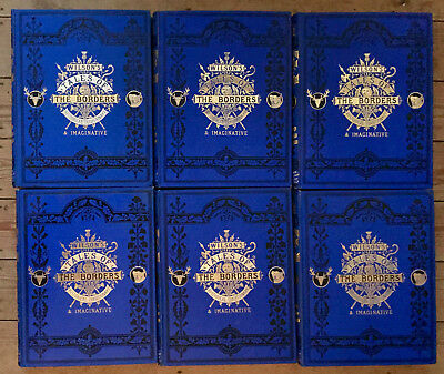 c1877-Wilson's Tales of The Borders-Plates, Stunning Bindings Complete in 6 Vols