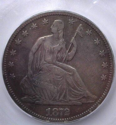 1872-Cc Seated Liberty Silver 50 Cents  Icg Vf25  Rare! Better Date!