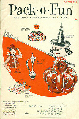 PACK-O-FUN Scrap-Craft Magazine October 1967 Halloween issue