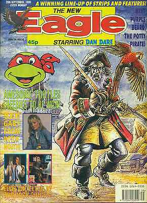 THE NEW EAGLE weekly British comic book September 29, 1990 VG+