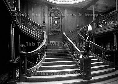 Photo: 5x7: 1st Class Lower Grand Staircase, RMS Titanic