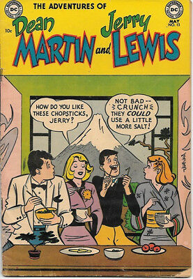 The Adventures of Dean Martin and Jerry Lewis Comic Book #13 DC 1954 VERY GOOD+