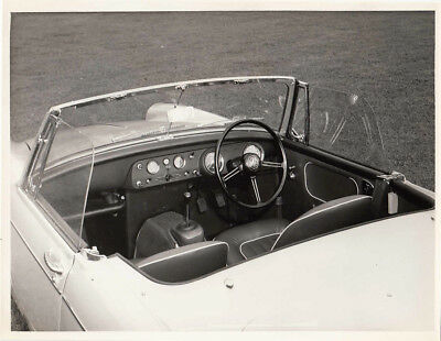 Mg Midget Dashboard, Period Photograph, With B.m.c. Stamp To Rear.