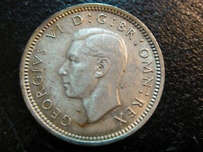 1944 Great Britain Silver 3 Pence. Key Date. Uncirculated.