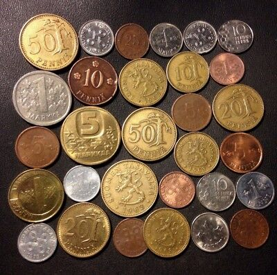 Old Finland Coin Lot - 1921-Present - 30 Great Coins - Lot #N15