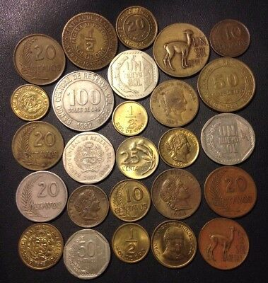 Old Peru Coin Lot - 1926-PRESENT - 26 Excellent Coins - Lot #N15