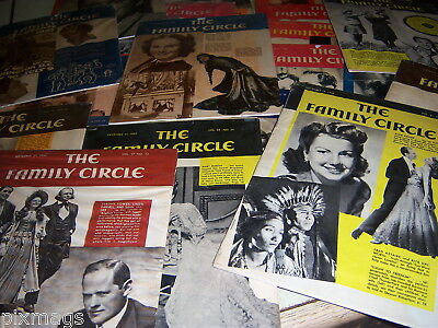 Vintage Lot 20 Antique Old Family Circle  Magazines 1937 to 1946 Shrink wrapped