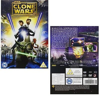STAR WARS THE CLONE WARS 2008: New Animated Sci-Fi - NEW Movie -  R2 DVD not US