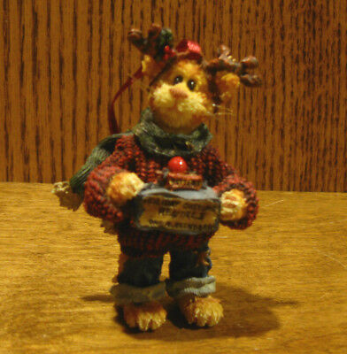 "Boyds Purrstone resin Ornament #271805 PENNY COPPERPUSS...A NEW SUIT, 3.5"" NIB"