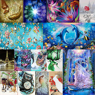 Various DIY 5D Diamond Embroidery Painting Cross Stitch Kits Crafts Home Decor