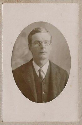 Edwardian/WW1 era Postcard - Robert Combe aged 22 - Ewingston
