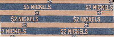 100 Five Cent Flat Nickel Coin Wrappers That Hold 40 Nickels Each