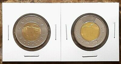 Canada 2012 Old & New Generation Toonies BU UNC From Mint Rolls!!