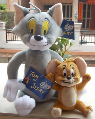 2017 HOT TOM AND JERRY SOFT PLUSH DOLL TOY SIZE TOM 30CM JERRY 15CM Cat & Mouse