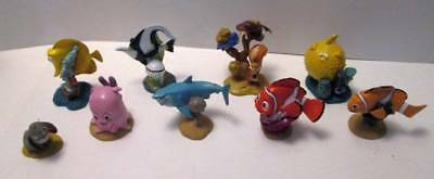"""Disney """"Finding Nemo"""" Dory Fish PVC Characters Toy Figures Lot of 9"""