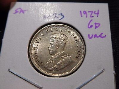 INV #M23 South Africa 1924 6 Pence UNC