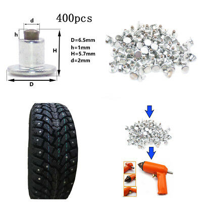 400PCS Car Motorcycle Winter Non-slip Tires Studs Snow Spikes Tyres Chains Studs