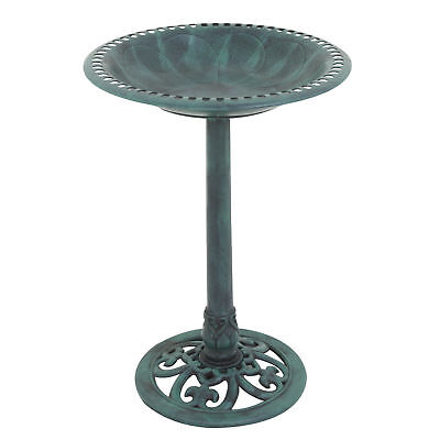 Antique Copper effect bird bath Garden Decor Vintage Yard Art