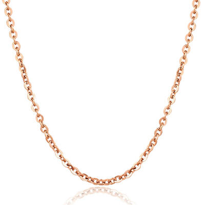 100pcs Lots womens stainless steel rose gold rolo chain necklaces 1.5mm-3.2mm