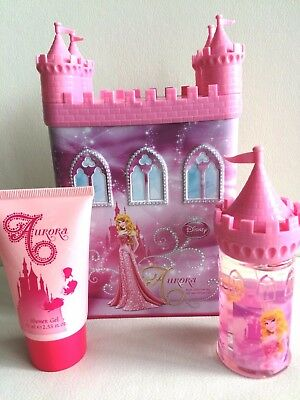 Disney Princess Aurora Sleeping Beauty Perfume & Shower Gel Money Box Gift Set