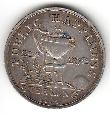 Ireland  1804  sterling silver  .925  2 Pennyweight  Public Happiness