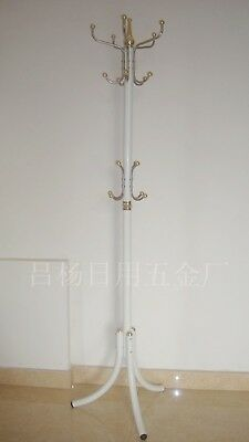 1X White Multi Hook Heavy Clothes Coat Hat Stand Rack 178cm High
