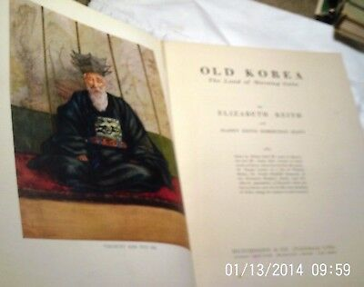 1946, FIRST EDITION, OLD KOREA, by Keith/Scott, stunning color plates