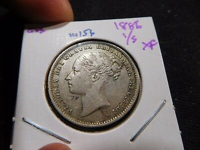 INV #M156 Great Britain 1886 Shilling XF