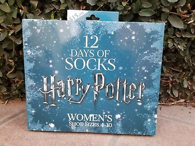Harry Potter 12 Days of Socks WOMEN'S Advent Gift SET, SOLD OUT! HTF Size 4-10