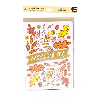 Hallmark Thanksgiving Wish Card Assortment 4 cards, 4 envelopes Thinking of You