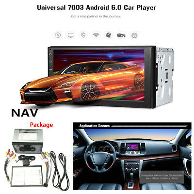 7''2Din AM/FM/RDS Wifi GPS Navigation Bluetooth Radio Android 6.0 Car MP5 Player