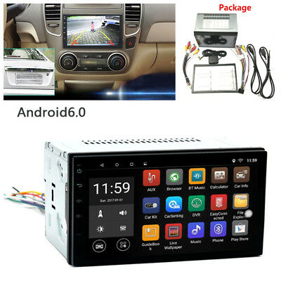 """2 Din WiFi 7"""" Touch Screen Car GPS Bluetooth Android 6.0 FM/AM Radio MP5 Player"""
