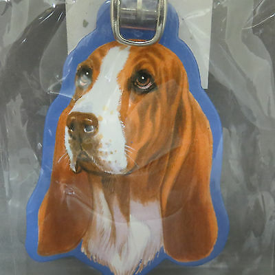 Basset Hound Dog Luggage Tag Briefcase Gym Backpack Travel ID Pet Carrier New
