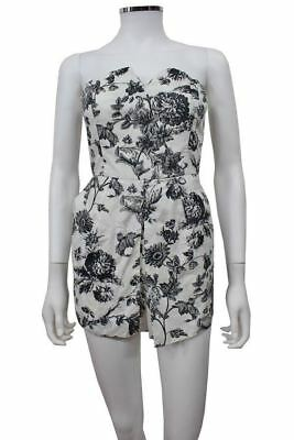 7d35df31d97f Kimchi Blue Urban outfitters Black multi Floral Romper Size 4 NWT  79