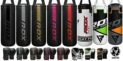 RDX Kids 2FT UnFilled Punching Bag Boxing Set Gloves Chain Junior Children CA