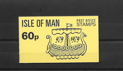ISLE of MAN 1979 Millennium 60p Stamp Booklet - SB 10 - with pane SG 150ab