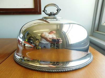 Excellent Edwardian Tall Deep Silver Food Dome Roast Meat Cover c1900s