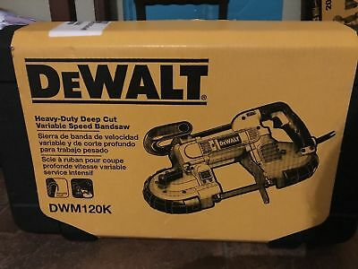 "NEW IN BOX DEWALT Heavy Duty 5"" Deep Cut Portable Band Saw Kit DWM120K 10 Amp"