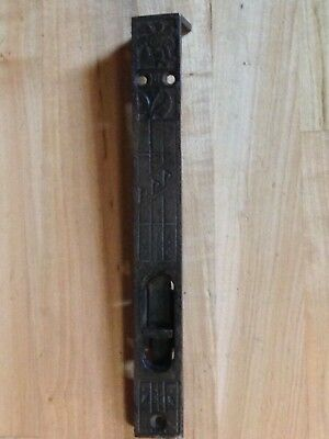 Antique Vintage Cast Iron Victorian Door Bolt Latch Lock Part