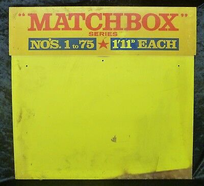 Matchbox 1-75 1966 Shop Display Header Board