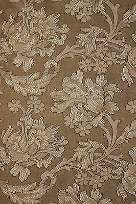Antique French Art Nouveau woven damask fabric panel upholstery curtains ~*~