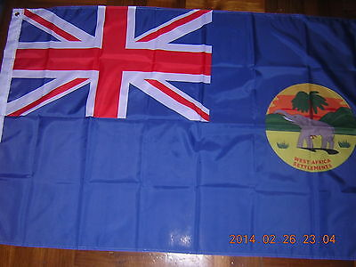 British Empire Flag British West Africa Settlements Ensign 1870-1888 3ftX5ft GB